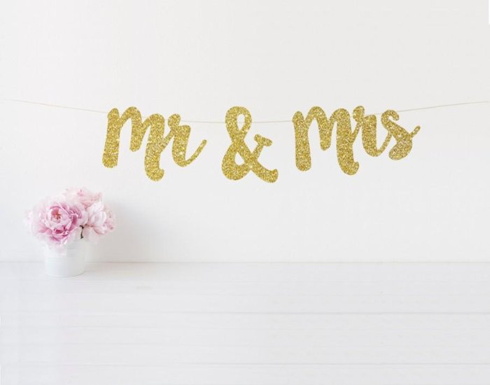 You and Her Glittery Name Banner
