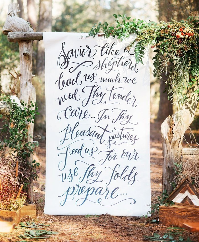 Personalized creative story wedding banner