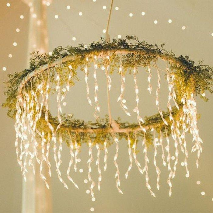 Chandelier of little twinkling lights