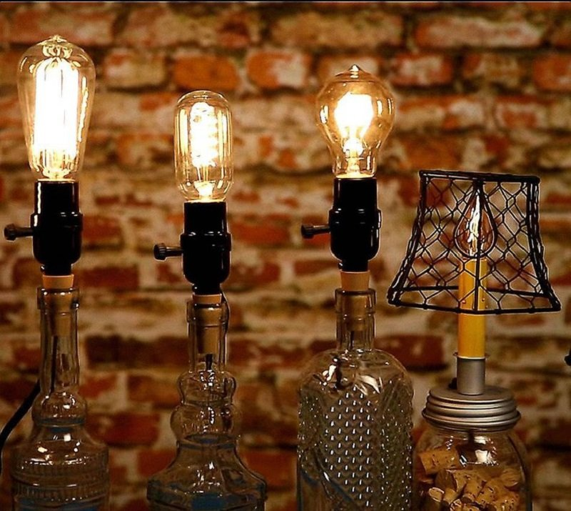 Cork Bottle Vintage Lamp