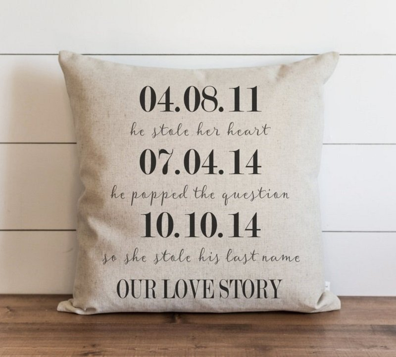Love Story Written on a Pillow