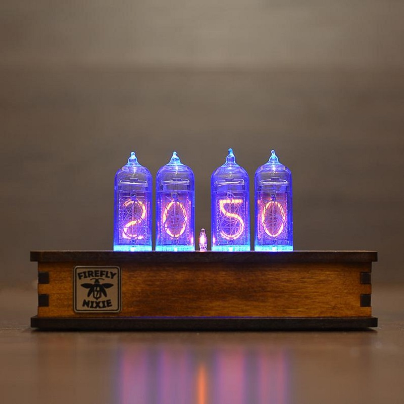 Nixie Vintage Retro Wooden Tube Clock