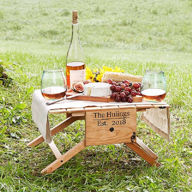 Personal Foldable Wine Table