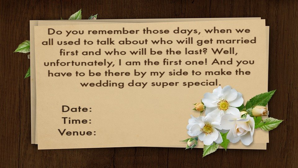 Wedding Invitation Wording English: Wedding Invitation Wordings For Friends, Invite Quotes