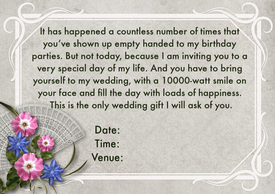 Wedding Invitation In English Wordings: Wedding Invitation Wordings For Friends, Invite Quotes