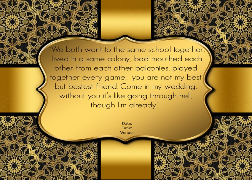 Wedding Invitation Quotes For Friends