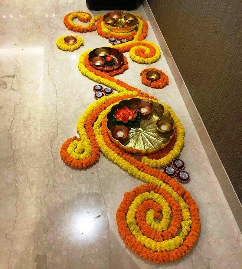 beautiful rangoli designs for wedding