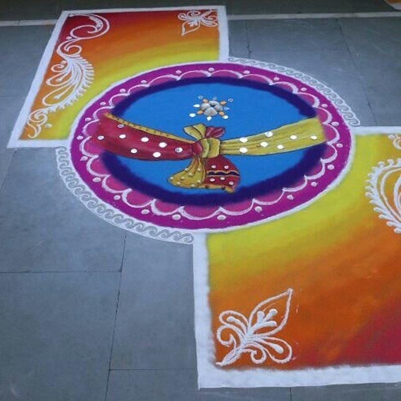 rangoli designs for punjabi wedding