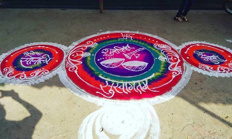 rangoli kolam designs for wedding