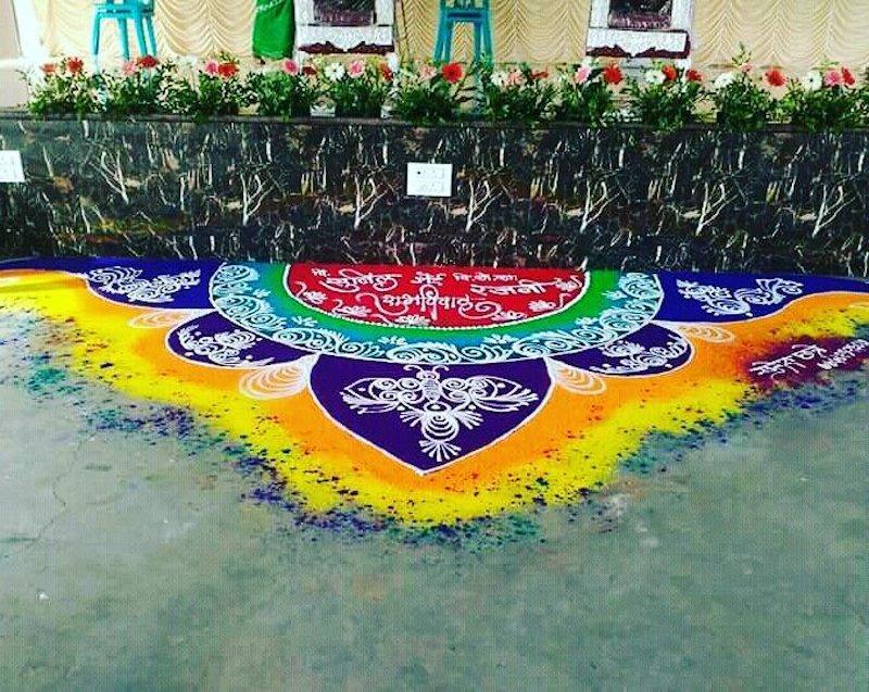 best rangoli designs for wedding