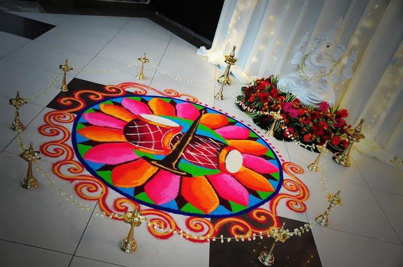 poster rangoli designs for wedding