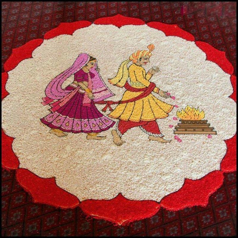 wedding floral rangoli designs