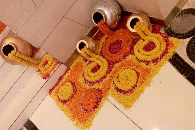 wedding theme rangoli designs