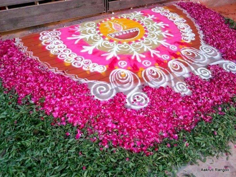 rangoli designs for wedding ceremony
