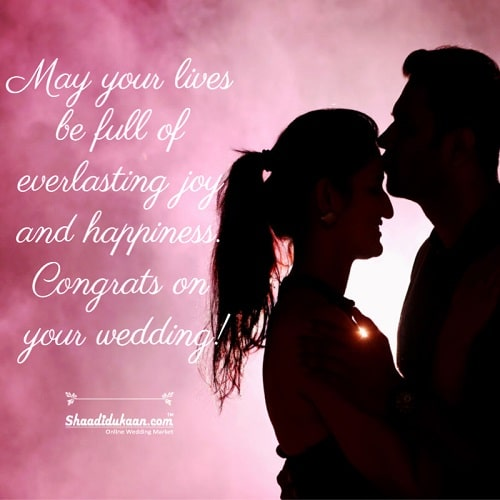 Wedding Love Wishes to couple