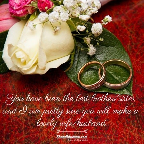 Wedding Messages for Sister