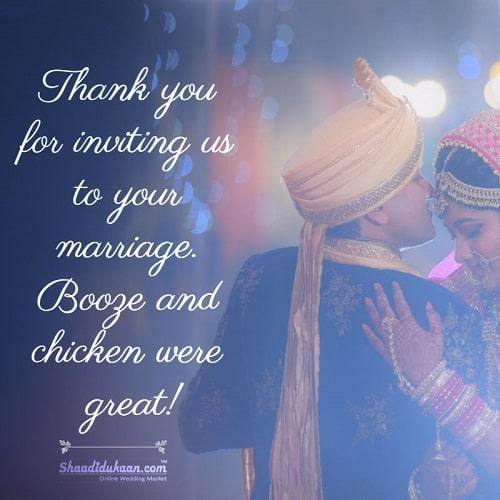 Hilarious Wedding Wishes