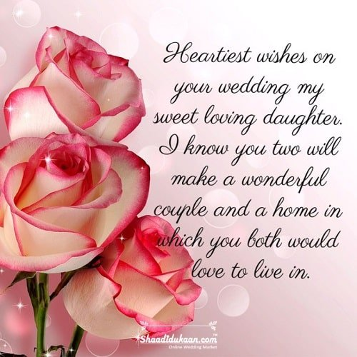 Wedding Wishes for Daughter/Daughter-in-Law