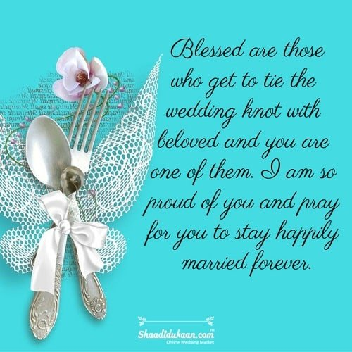 Wedding Wishes for Nephew/Niece