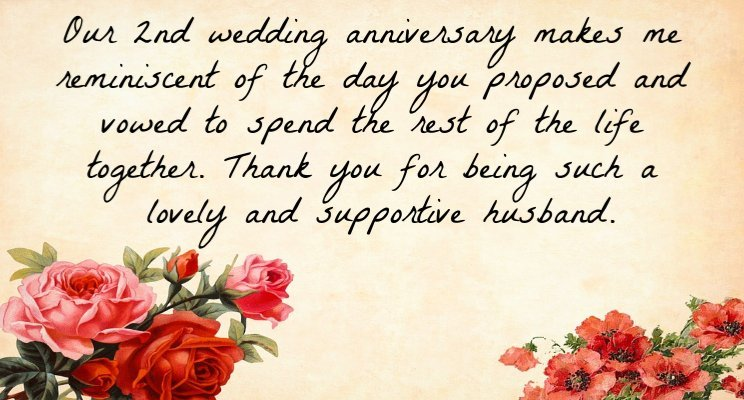 2nd wedding anniversary quotes for hubby