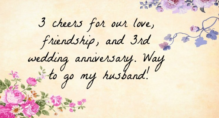 3rd wedding anniversary quotes for husband