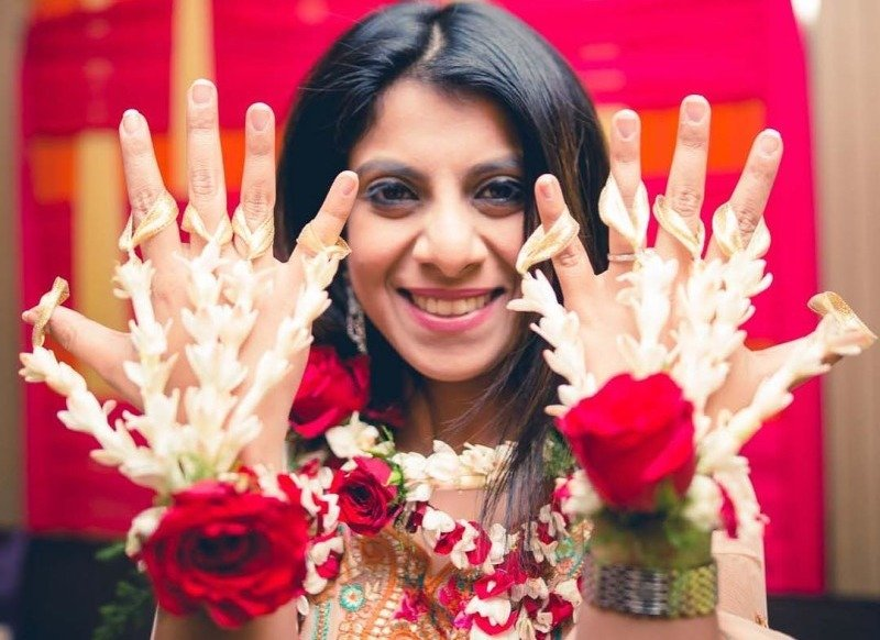Floral Jewellery for mehandi function