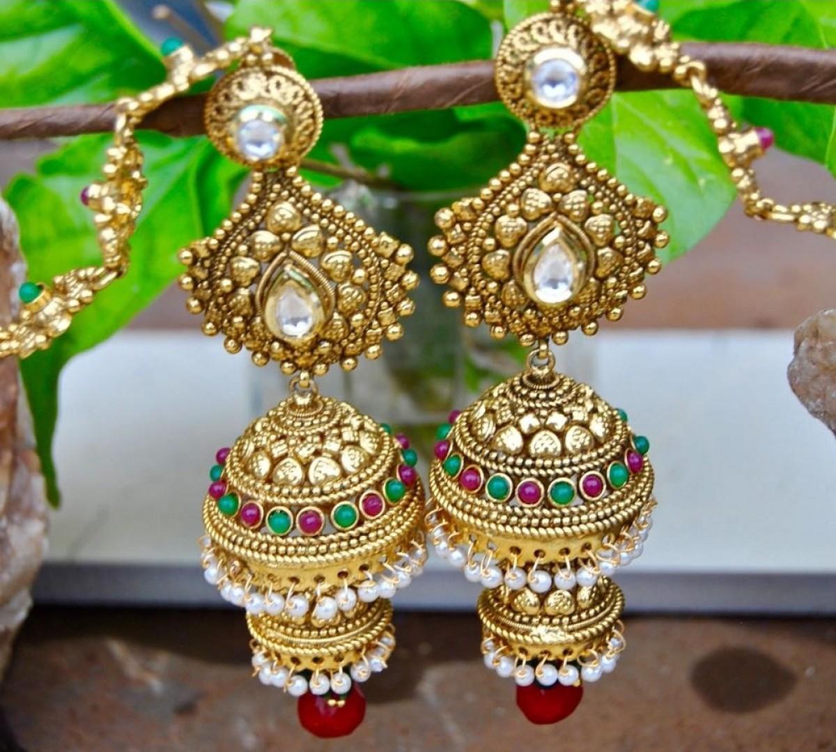 Double Jhumkas