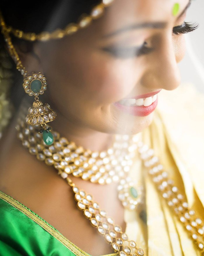 indian bridal kundan earrings