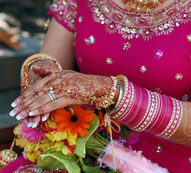 indian bridal nail paint - wedding accessories