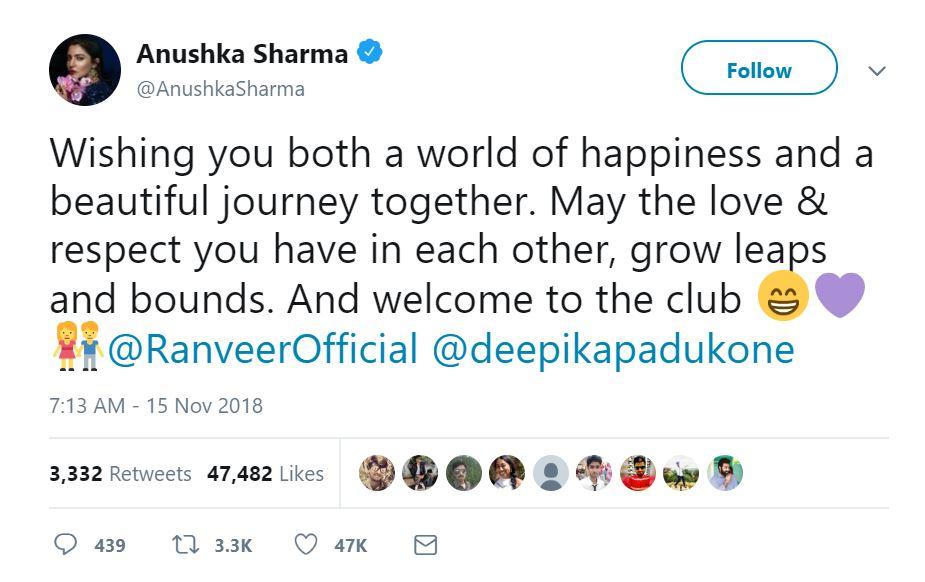 Anushka Sharma Tweet