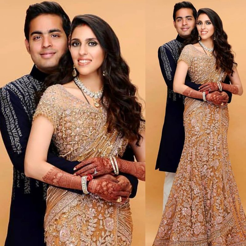 Akash Ambani and Shloka Mehta photoshoot