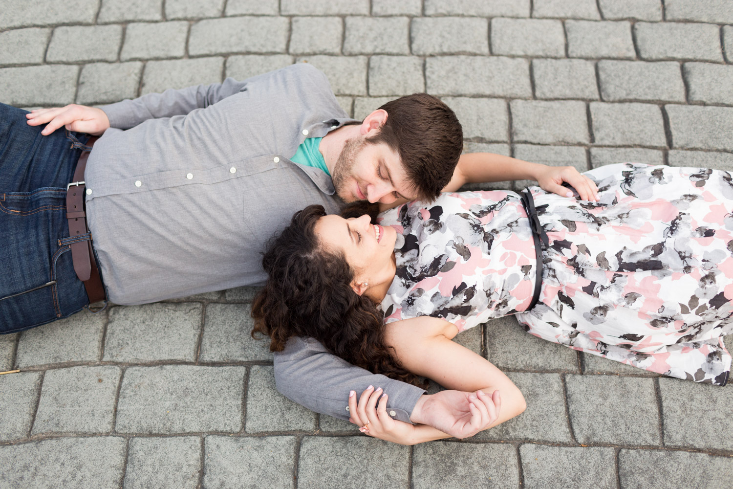 Lying on the ground pre wedding shoot