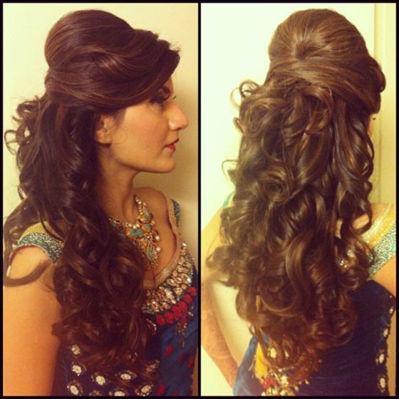 Bumped Up Curls - Bride Hair Style For Long Hair
