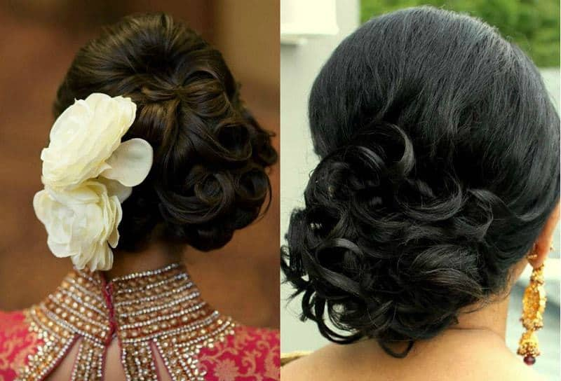 Criss Cross Flower Accented Bun - hairstyle For Medium Hair