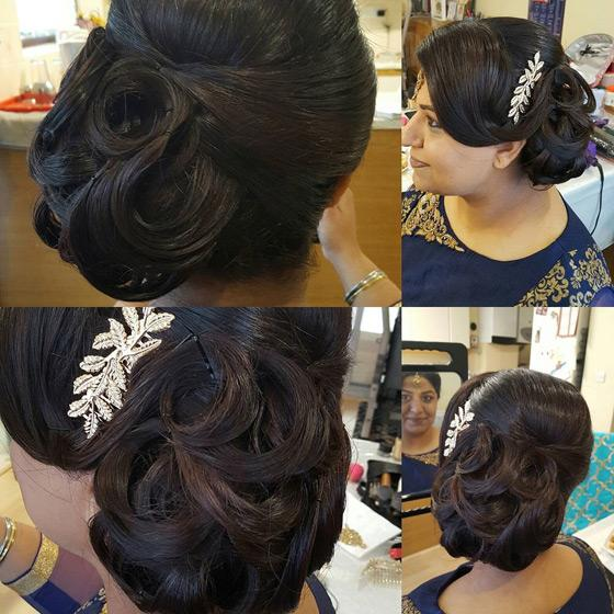 Side Parted Ringlet Bun - Wedding Hair Style For Long Hair