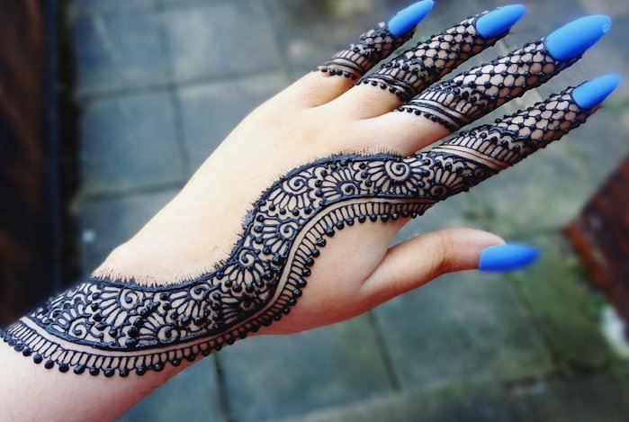 mehandi design simple arabic front hand