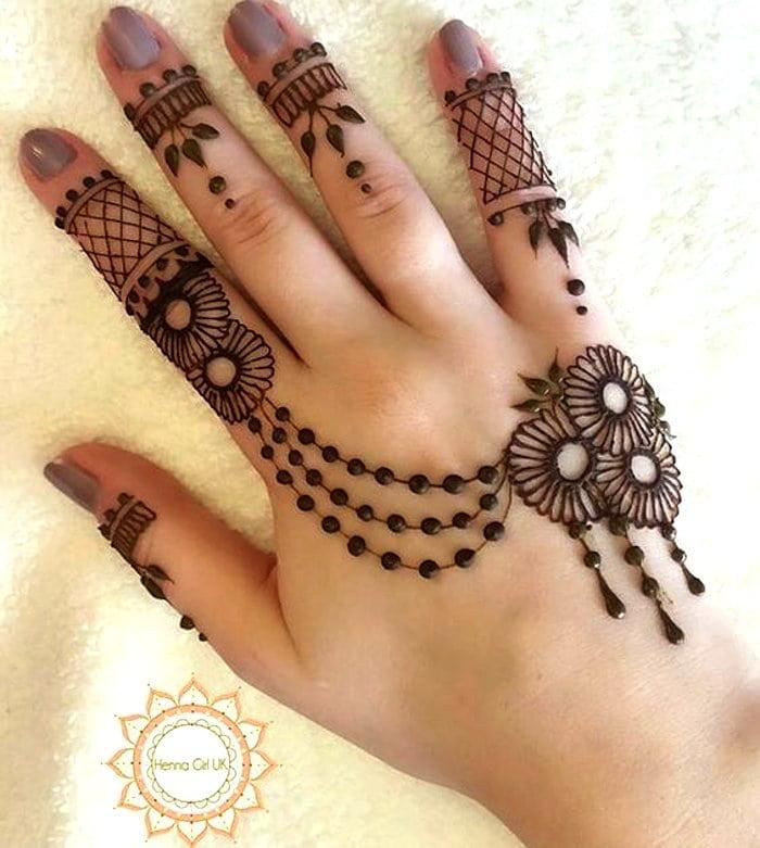 Arabic fingers mehndi photo
