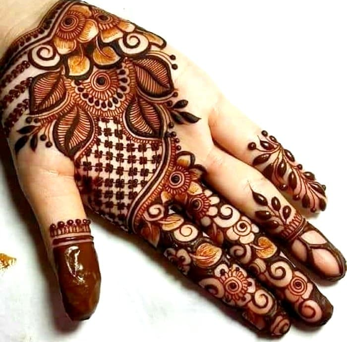 mehandi design for front