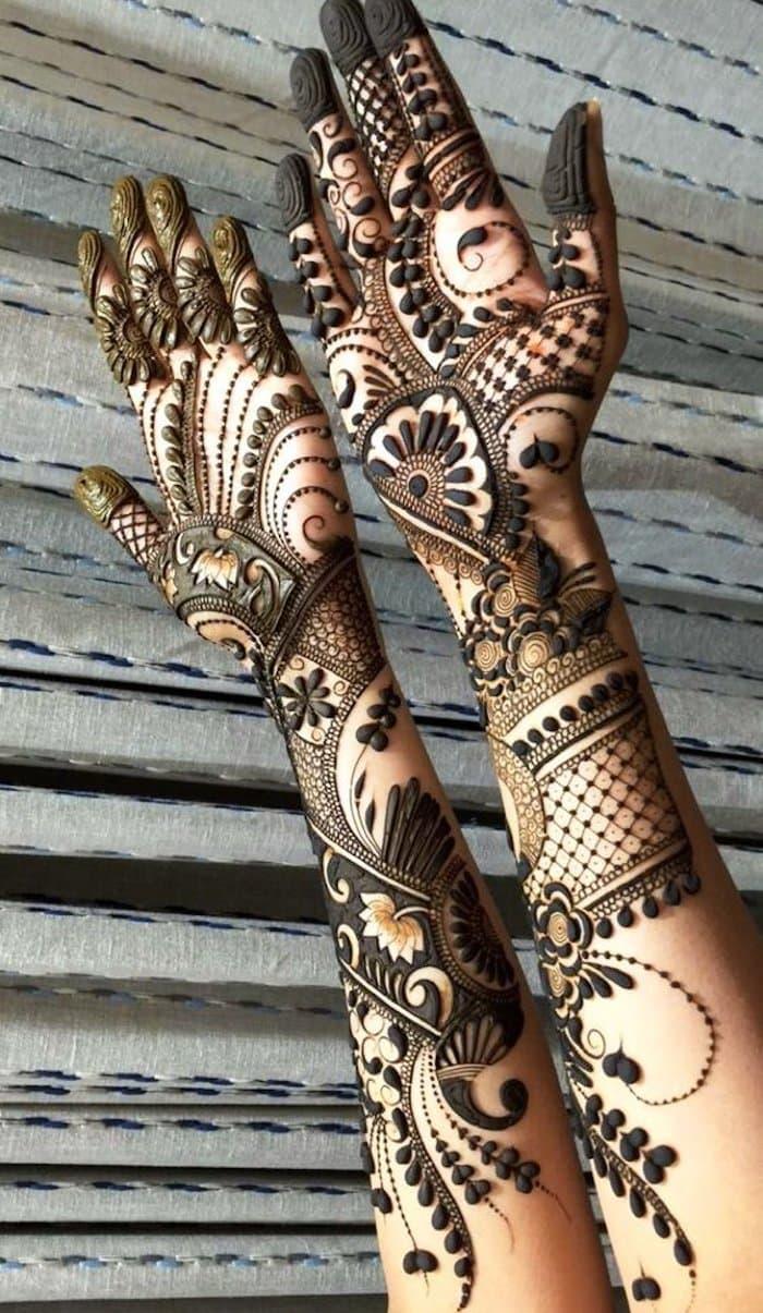 Top 111 Latest Simple Arabic Mehndi Designs For Hands Legs