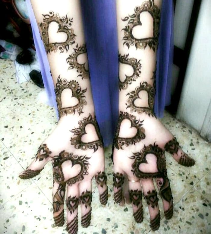 unique arabic mehndi designs