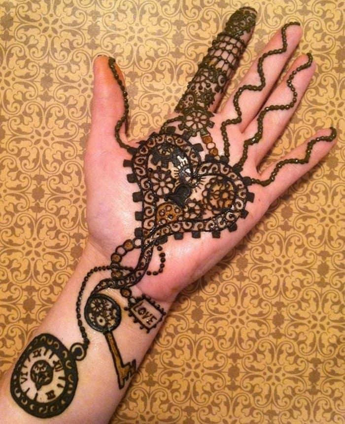 Key to heart - arabic mehandi designs