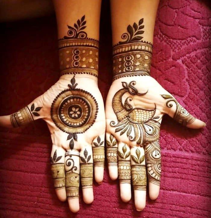 beautiful mehndi tattoo design for hand