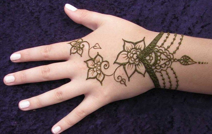 easy and simple mehandi designs for kids