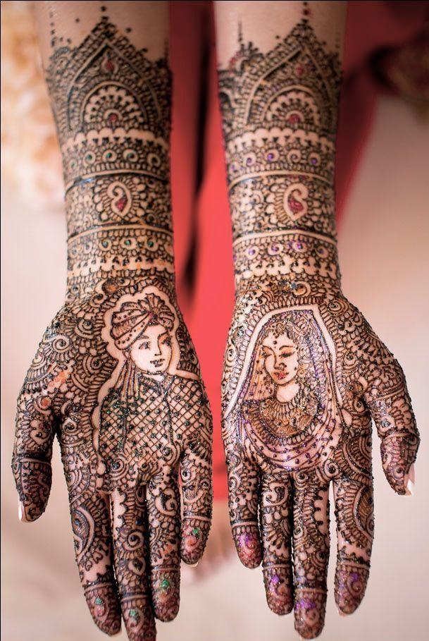 easy mehandi designs for brides