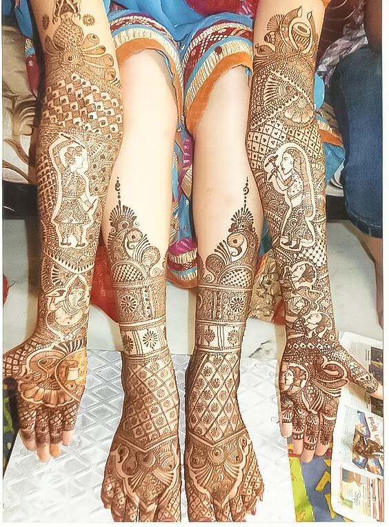 mehandi designs for hand and leg
