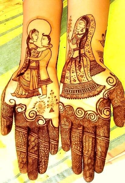 beautiful mehandi designs for brides