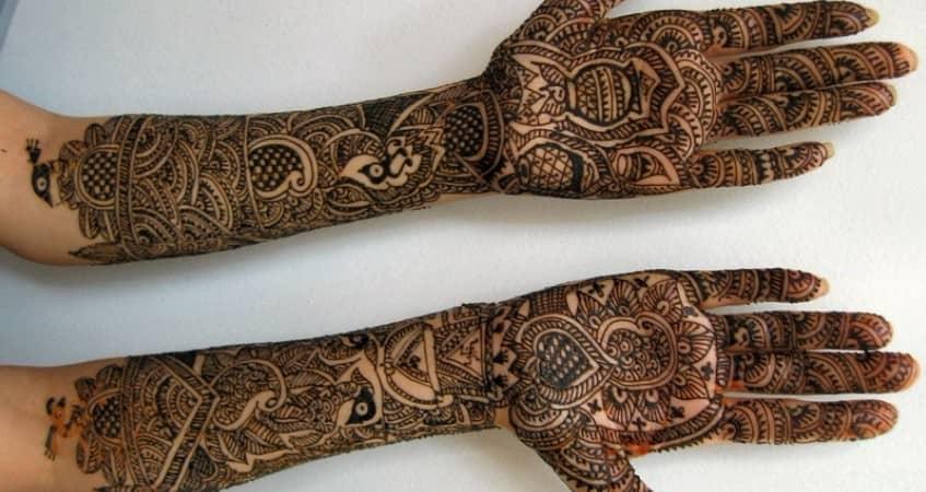 bridal mehandi designs for full hands 2019