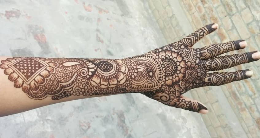 bridal mehandi designs for full hands