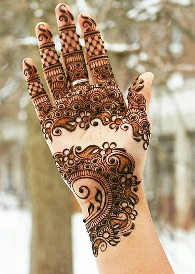 Pakistani Bridal Mehandi Designs