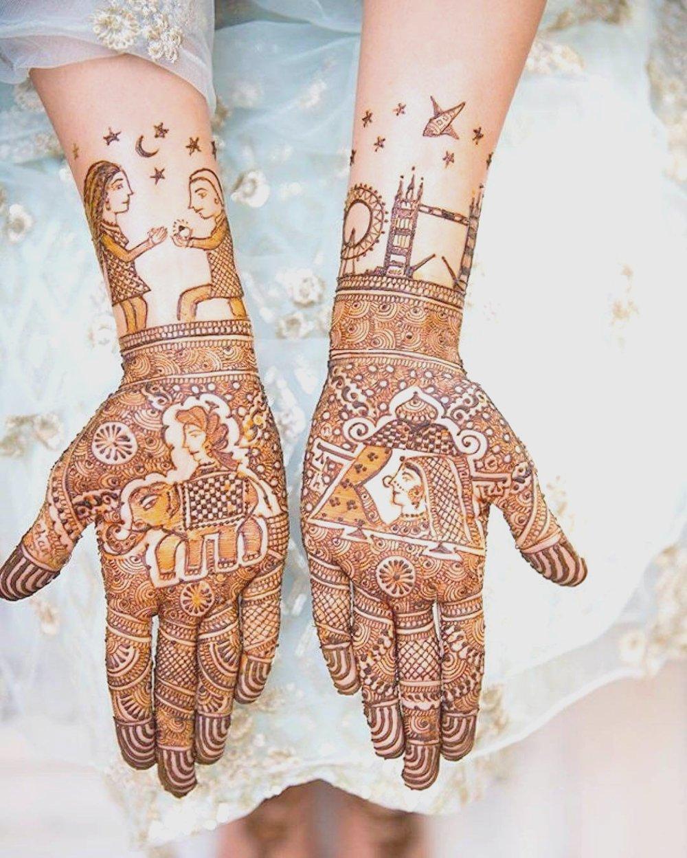Alluring Baraat Bridal Mehndi Design